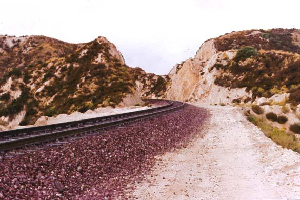 Cajon Pass train tracks