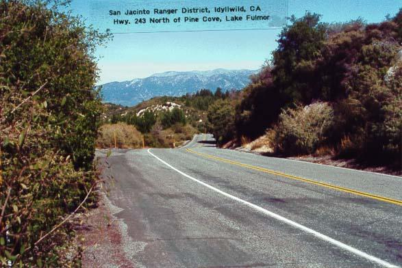 Highway 243 - North of Pine Cove - Lake Fulmor