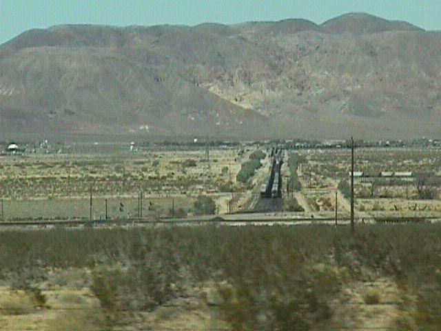 Yermo train tracks