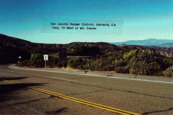 Highway 74 - Mountain Center