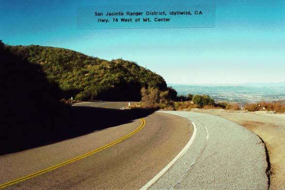 Highway 74 - West of Mt Center